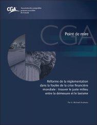 Réforme de la réglementation dans la foulée de la crise financière ...