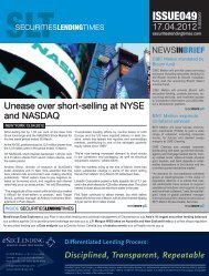 Industry appointments - Securities Lending Times