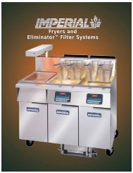 Fryers and Eliminator™ Filter Systems Fryers and ... - Imperial Range