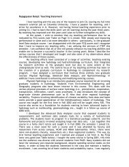 Research and Teaching Statements for John P - Civil ...
