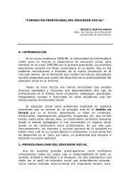"""""""FORMACIÓN PROFESIONAL DEL EDUCADOR SOCIAL"""" 0 ..."""