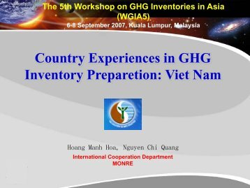 Vietnam [PDF: 2307KB] - GIO Greenhouse Gas Inventory Office of ...
