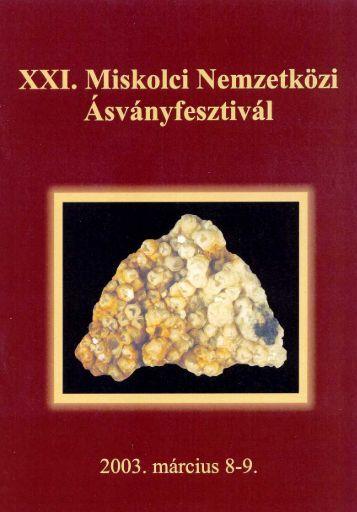 mf2003.pdf (1 MB) - Herman Ottó Múzeum Ásványtára