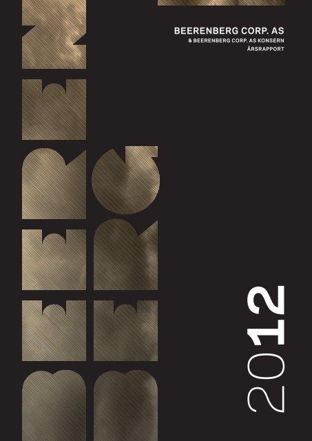 Årsrapport 2012 - Beerenberg