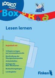 Logico-Box Lesen lernen