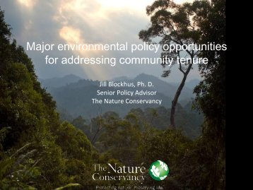 Major environmental policy opportunities for addressing community ...