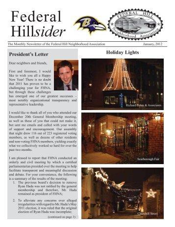 Federal Hillsider - Federal Hill Neighborhood Association