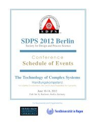SDPS 2012 Berlin - Integrated Design and Process Technology