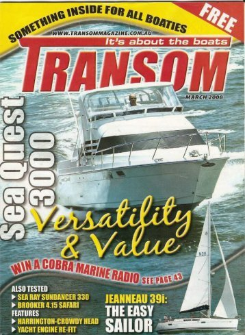 Transom Magazine March 2008 - SeaQuest
