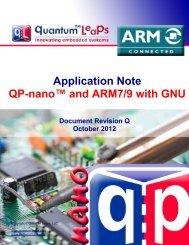 QP-nano and ARM7/ARM9 with GNU - Quantum Leaps