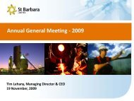 Annual General Meeting - 2009 - St Barbara Limited