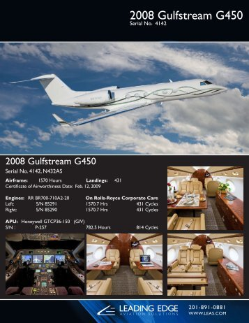 2008 Gulfstream G450 - Business Air Today