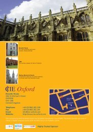 CIE Oxford - English in Britain