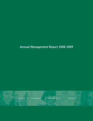 Annual Management Report 2008-2009 - Le Protecteur du citoyen