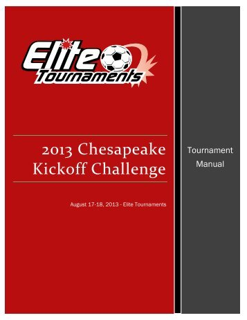 Tournament Manual - Elite Tournaments