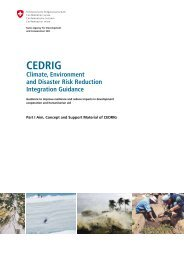 CEDRIG - SDC Climate Change and Environment Network