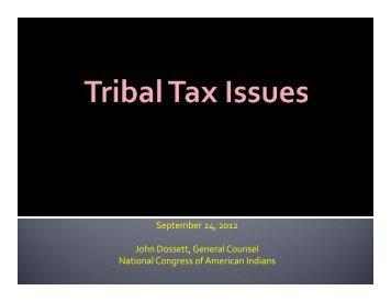 Tribal Tax Issues