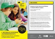 2. NAtIoNALES FACHFoRUM JUgENDMEDIENSCHUtZ EINLADUNg - Jugend und ...