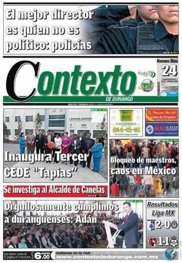 24/08/2013 - Contexto de Durango