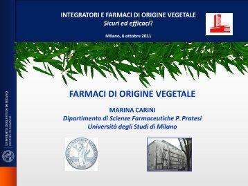 farmaci di origine vegetale - Istituto di Ricerche Farmacologiche ...