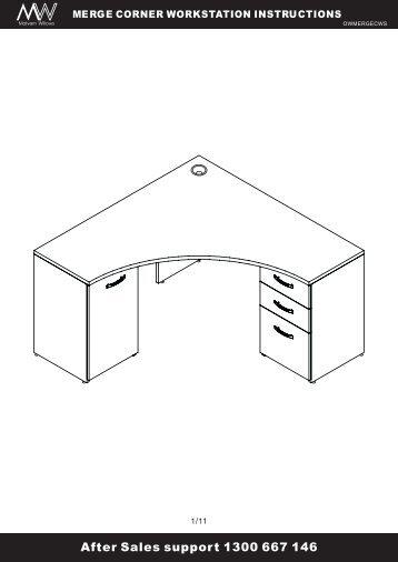 merge corner workstation instructions - Officeworks
