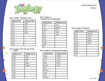 morrison-mccall spelling list 1 pdf