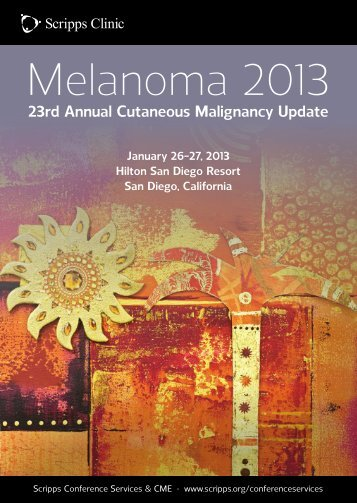 23rd Annual Cutaneous Malignancy Update - Scripps Health