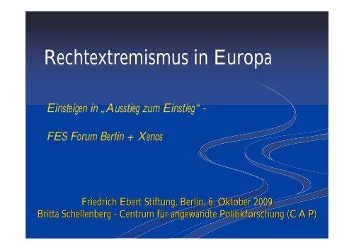 Vortrag - Friedrich-Ebert-Stiftung