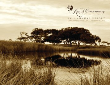 Kiawah Conservancy 2012 Annual Report