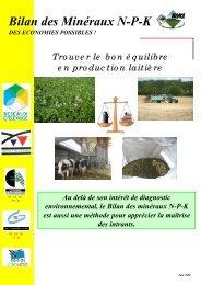 Bilan des minéraux N-P-K - Chambre d'agriculture de l'Indre