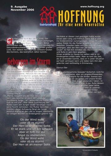 Geborgen im Sturm - bei Hoffnung für eine neue Generation eV