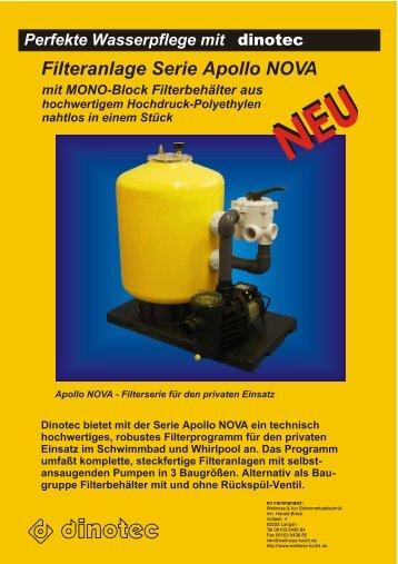 Filteranlage Serie Apollo NOVA - Schwimmbadtechnik Mallorca