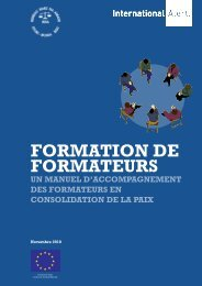 FORMATION DE FORMATEURS - International Alert