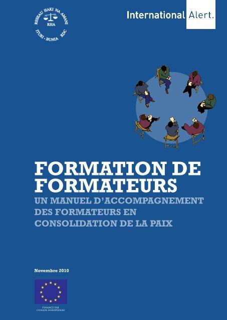 FORMATION DE FORMATEURS - International Alert