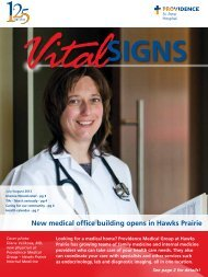 new medical office building opens in Hawks Prairie - Providence ...