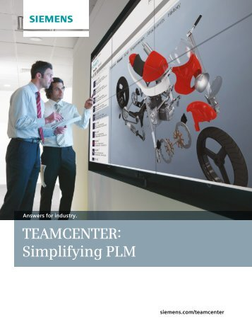Teamcenter Overview Brochure - Siemens PLM Software