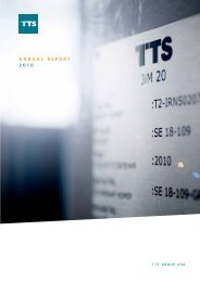 Director's report for 2010 - TTS Group ASA