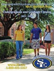 www.SE.edu 1-800-435-1327 - Southeastern Oklahoma State ...