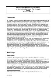 Effect-evaluatie rookvrije klassen