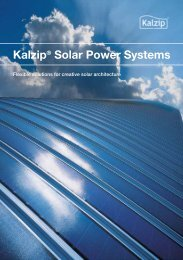 Kalzip® Solar Power Systems