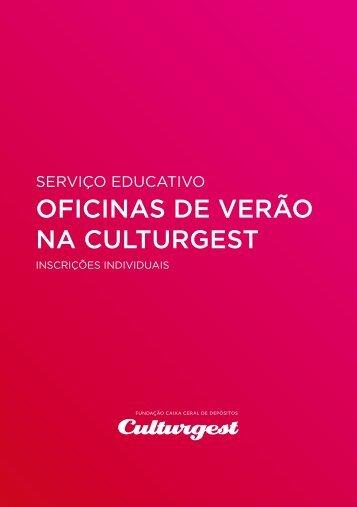 programa das oficinas de Verão - Culturgest