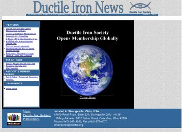 Issue No.1, 2005 - Ductile Iron Society