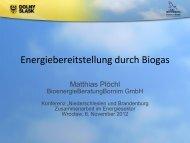 Energiebereitstellung durch Biogas