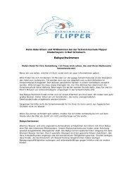 Babyschwimmen - Schwimmschule Flipper