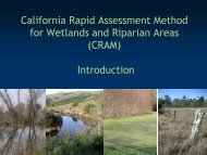 California Rapid Assessment Method for Wetlands and ... - Cram