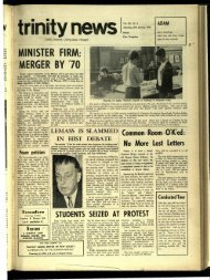 MINISTER FIRM; MERGER BY '70 - Trinity News Archive