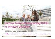 Business Tarife im Rahmenvertrag TM030 für Mitglieder ... - Foeg.de