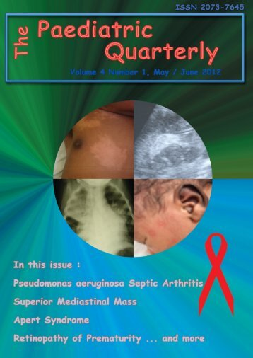 Volume 4 no. 1, May / June 2012 - The Paediatric Quarterly