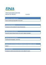 PRESTANDADEKLARATION ENLIGT EU 305/2011 Nr 4570 - Finja