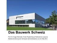 Das Bauwerk Schweiz - Schweizer Zement